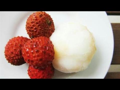 Litchi Ice-Cream | Fresh Fruit Ice-Cream |