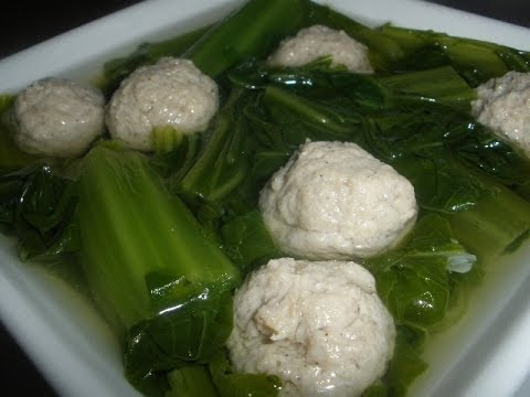 How to make Green Mustard Soup with Pork Balls