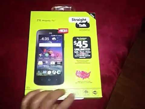 unboxing my new phone, straight talk ZTE