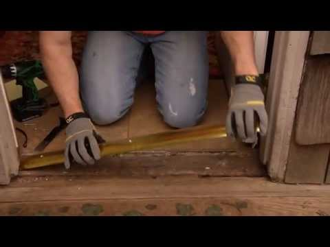 How to Install a Standard Door Threshold