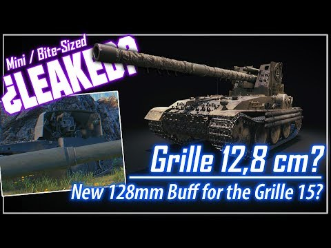 ¿Mini LEAKED? Grille 12,8 cm? New 128mm Buff? || World of Tanks