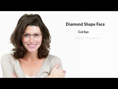 Frames for a Diamond Face Shape - Female