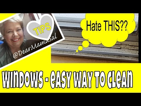 Window sills: how to clean the trakcs with DearMamaSal