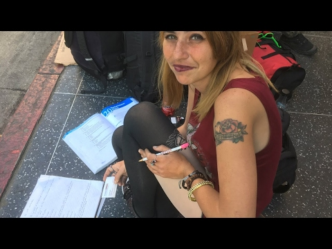 Young Homeless Woman Putting Herself Through College (Links to Her Video Updates in Description)