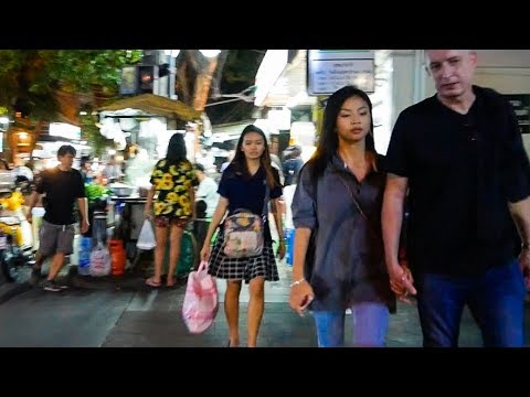 Silom Night Walk - Bangkok, Thailand