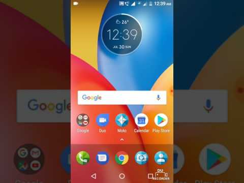 How to get battery percentage indicator new Moto E4 Plus