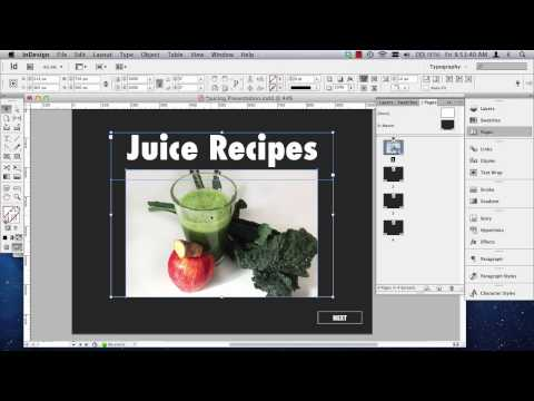 InDesign Interactive PDF Presentations Part 1 of 2
