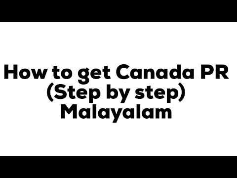 HOW TO GET CANADA PR-Steps-Malayalam