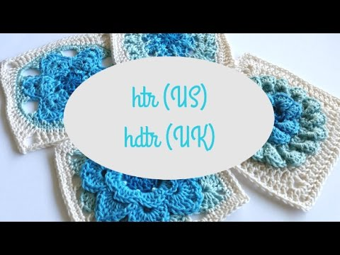Half triple crochet (htr US) or Half double treble crochet (hdtr UK) by Shelley Husband Spincushions