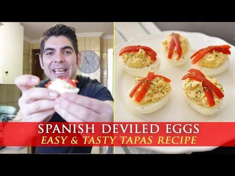 Spanish Deviled Eggs with Tuna - Tapas Recipe
