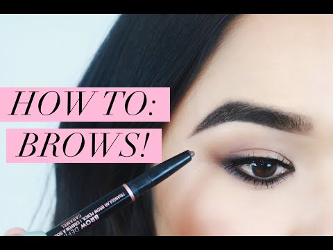 How to Fill In Your Eyebrows with Powder, Pencil and Pomade!
