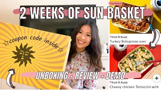 Sun Basket Meal Kit Review + Unboxing ☆ 2 Weeks of Meals + How to Cook Demo ☆ April 2021