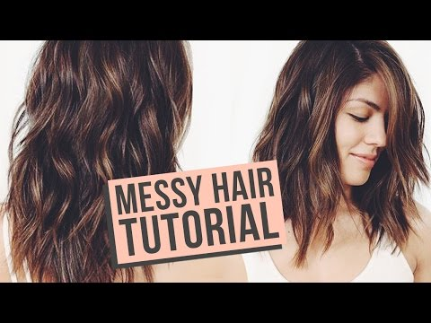 Messy Waves Hair Tutorial