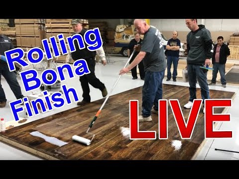 Rolling Bona's Traffic Naturale over Craft Oil on Hickory Demo LIVE | City Floor Supply