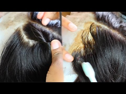 This Wig Look Like A Fresh Relaxer! How To Make Edges Look Natural ft. WowAfrican