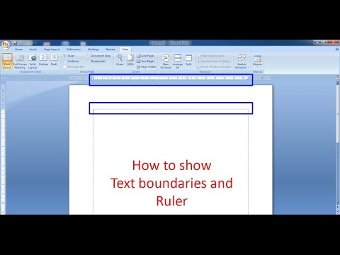 HOW TO SHOW TEXT BOUNDARIES & RULER ON MICROSOFT WORD