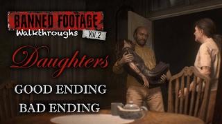 Resident Evil 7 Daughters DLC | Good Ending & Bad Ending | Banned Footage Vol 2 | Walkthrough