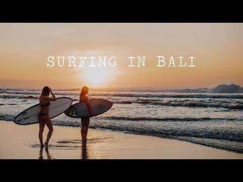 Learning to surf in Bali  |Surfen im Surfcamp 🌊