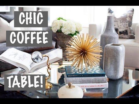 DIY‼️CHIC COFFEE TABLE DESIGN AND DECOR‼️