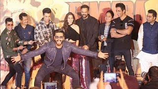 Ranveer Singh,Sara Ali Khan,Rohit Shetty & Others At Simbaa Trailer Launch Complete Video HD