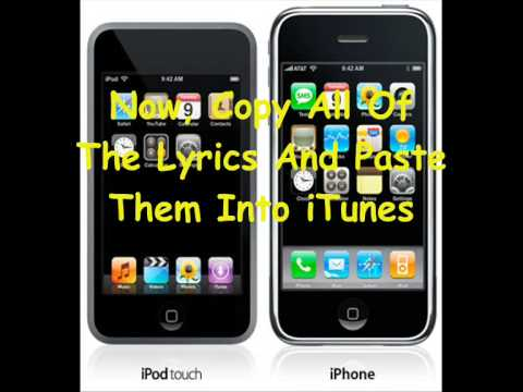How To Add Lyrics To Songs On An iPod Touch And An iPhone