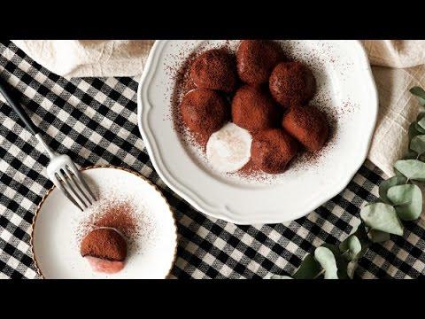 How to make truffle daifuku mochi,chocolate mochi icecream,coconut milk mocha,best chocolate truffle