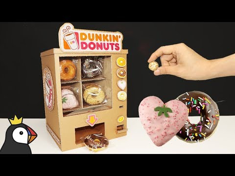 How to Make Donuts Vending Machine from Cardboard
