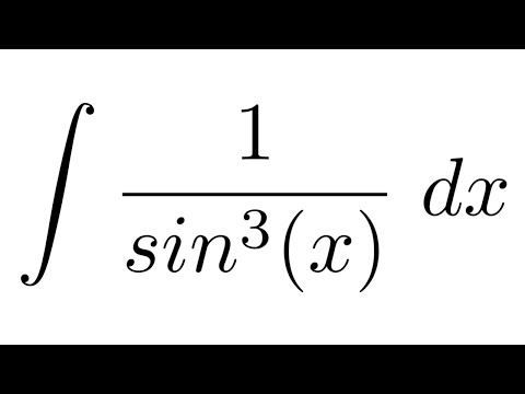 Integral of 1/sin^3(x) (by parts)