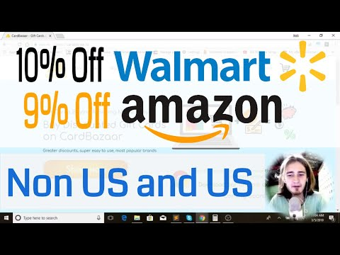 Get Walmart and Amazon Gift Cards 9% Off  - Works For International Buyers