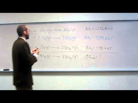 Calculate Enthalpy of Reaction (∆Hrxn) By Reaction Addition Method 001