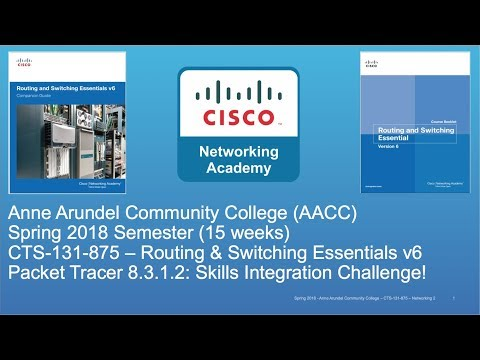 AACC - CTS-131 - CCNA R&S - Spring 2018 - PT 8.3.1.2 Skills Int. Challenge - Week #13