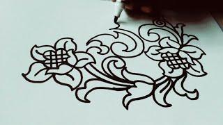 Belajar Menggambar Batik Ukir Untuk Pemula Pelan Pelan Saja
