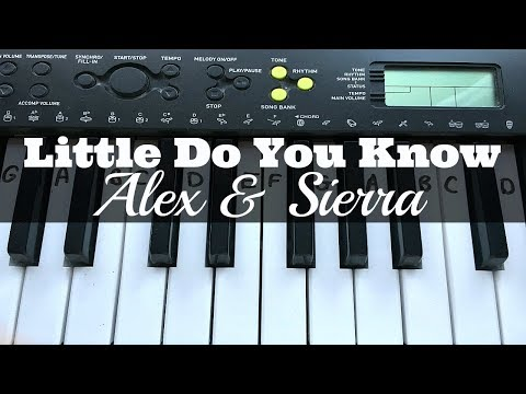 Little Do You Know - Alex & Sierra | Easy Keyboard Tutorial With Notes (Right Hand)