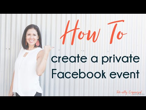 How to create private FB party event