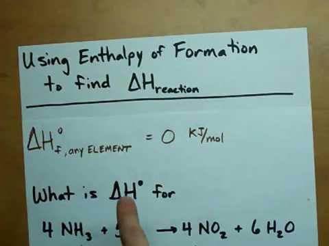 Find Delta H from Enthalpy of Formations