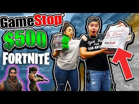 The $500 Gamestop Challenge **FORTNITE EDITION**