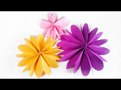 DIY paper flower for wall backdrop decoration / arts and crafts paper flowers easy for kids
