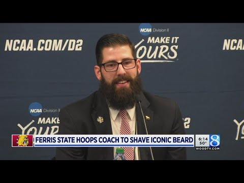 Bye, bye beard: Ferris State coach to shave at rally