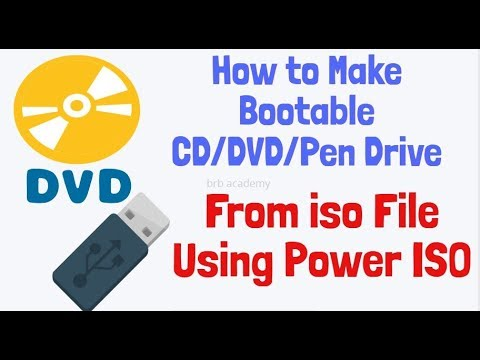 How to Make Bootable DVD From iso File Using Power ISO (CD/DVD Pen Drive)