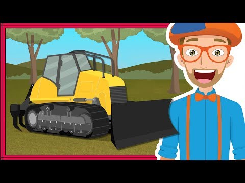 Blippi Bulldozer | Educational Construction Trucks for Children