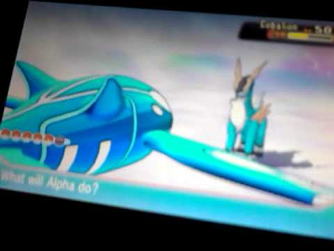 Pokemon alpha sapphire tring to catch cobalion