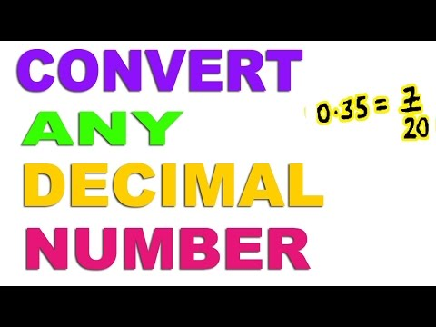 Convert Any Decimal to Fraction - Hindi (2016)