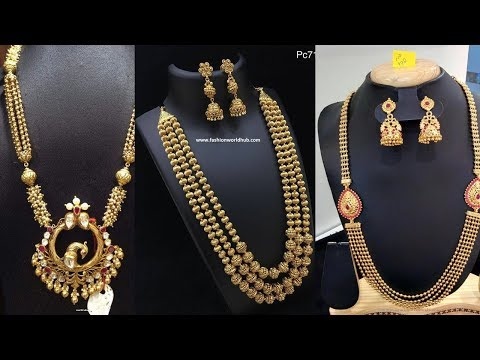 Latest New Design 1gram Gold Long Haram Designs With Price - She Fashion