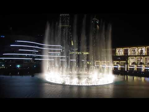 Dubai fountain 2018