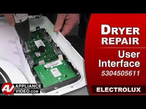 Electrolux Dryer - User Interface - Diagnostic & Repair