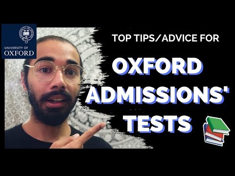 TOP TIPS/ADVICE  FOR OXFORD ADMISSIONS' TEST | MAT ADVICE | OXFORD UNIVERSITY | ThisIsMani