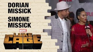 Simone and Dorian Missick on Misty Knight and Cockroach in Marvel