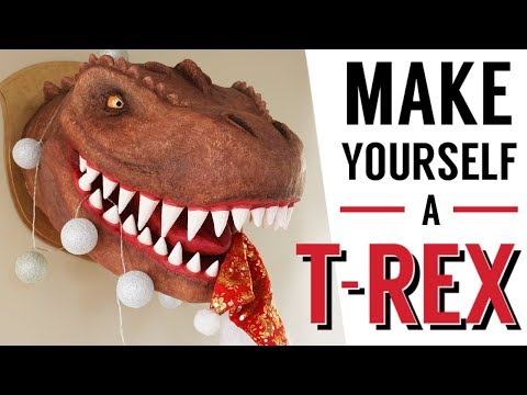 How to make a paper mache T-Rex (tutorial with a twist in the end!)
