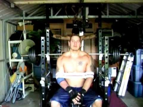 Bill Awesome 345lb bench with homemade sling shot
