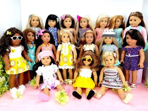 DRESSING OUR AMERICAN GIRL DOLLS FOR SPRING